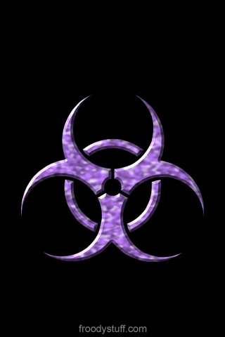 iPhone wallpaper from FroodyStuff.com: Biohazard Amethyst